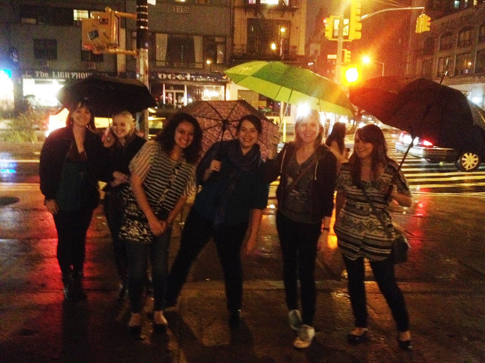 Braving the rain at Lit Crawl 2014