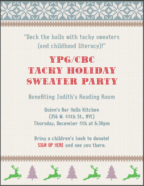 Tacky Sweater Party invite