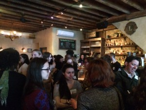 The busy crowd at YPG's spring editor/agent mixer