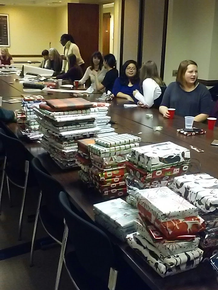 YPG Cares Gift Wrap Party